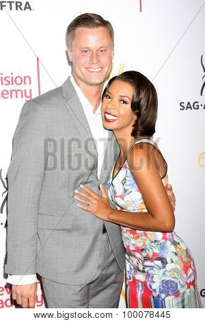 LOS ANGELES - AUG 27:  Eric Nenninger, Angel Parker at the Dynamic & Diverse Emmy Celebration at the Montage Hotel on August 27, 2015 in Beverly Hills, CA