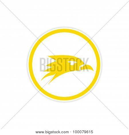 Sticker eagle head logo