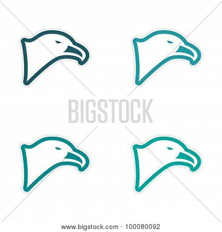 assembly sticker eagle's head