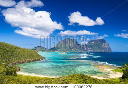 View over Lord Howe Island lagoon