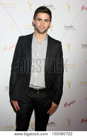 LOS ANGELES - AUG 26:  Max Ehrich at the Television Academy's Daytime Programming Peer Group Reception at the Montage Hotel on August 26, 2015 in Beverly Hills, CA