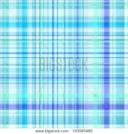 Seamless Blue Gingham Pattern