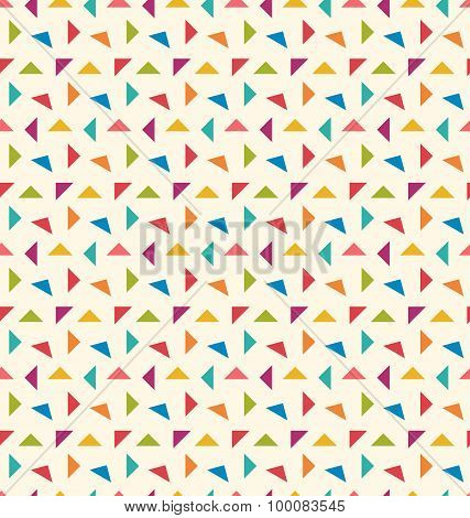 Seamless Pattern with Colorful Geometric Objects