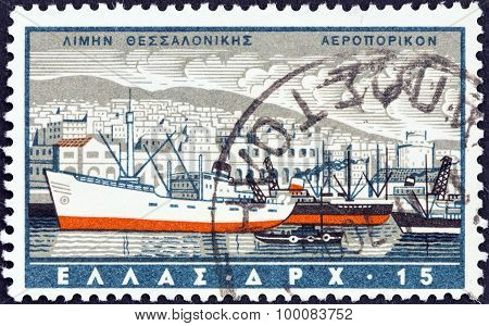 GREECE - CIRCA 1958: A stamp printed in Greece from the