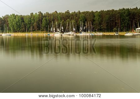 Kaunas Lagoon In Summer