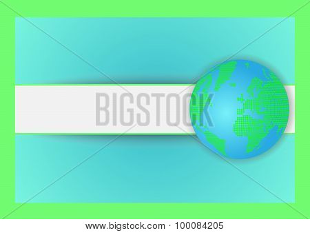 Background with globe