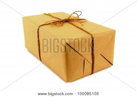 Brown Paper Package Tied With String