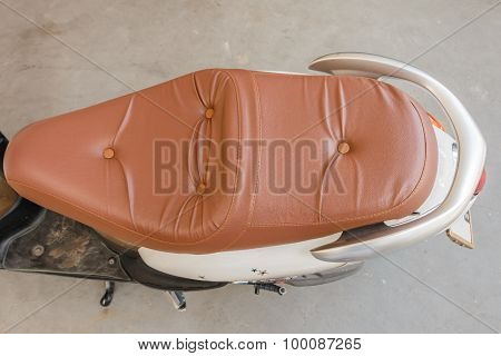 Motorcycle Seat On Top View
