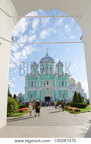 Holy Trinity Seraphim-diveevo Nunnery, View Of Trinity Cathedral From Arch Of Bell Tower, Diveevo, R