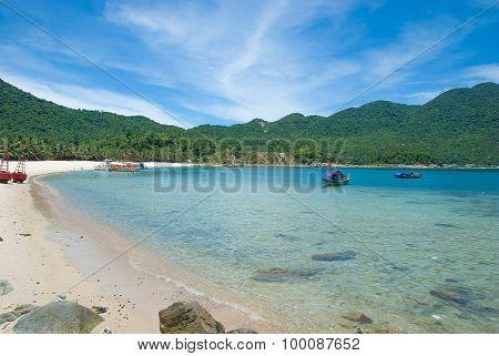 The beach in Central Vietnam