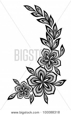 Beautiful Floral Pattern, A Design Element In The Old Style.