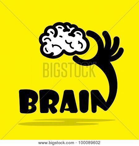 Creative Brain Sign Idea,flat Design.concept Of Ideas Inspiration, Innovation, Invention, Effective