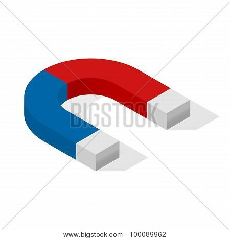 Magnet Isometric Icon