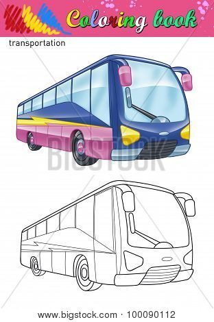 Coloring of tour bus