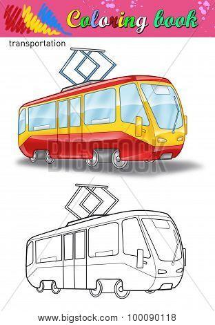 Coloring of tram.