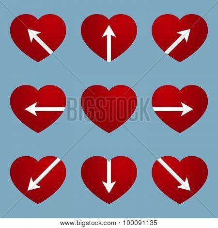 Heart With Arrow Design