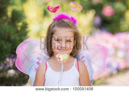 Portrait Of A Fairy With A Magic Wand