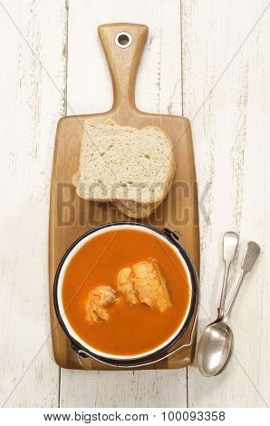 Hungarian Fish Soup In A Pot