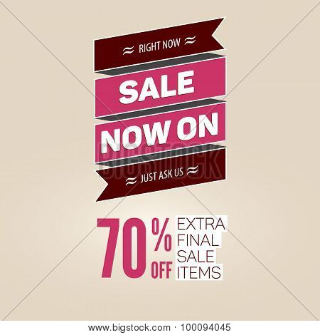 Vintage sale vector template.
