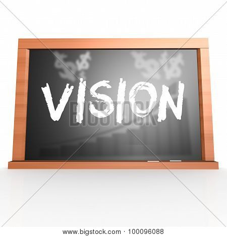Black Board With Vision Word