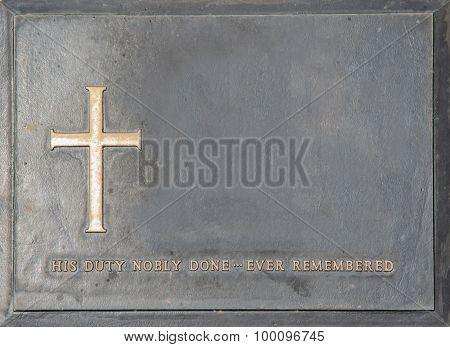 Label Of Symbolic Tombstone