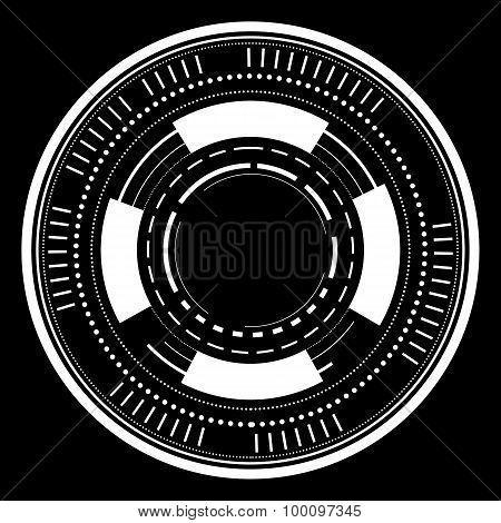 abstract technology circles on dark background