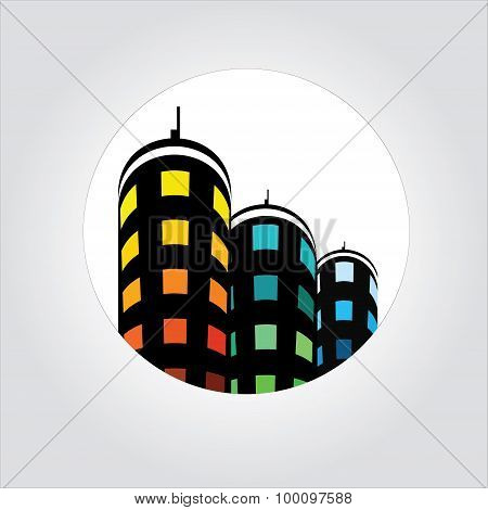Real Estate,office Building Logo, Apartment Icon