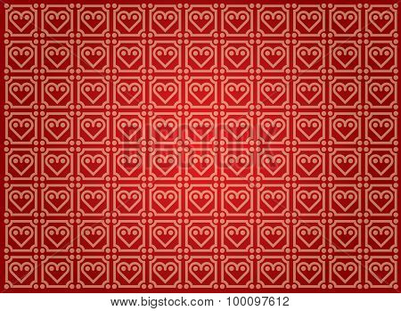 Vector Background With Heart Pattern