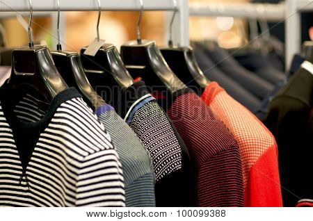 Multicolored striped clothing