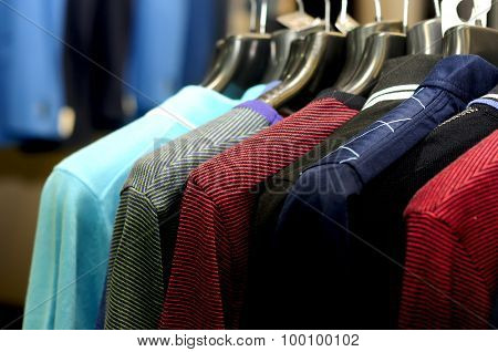Colorful striped men's clothing