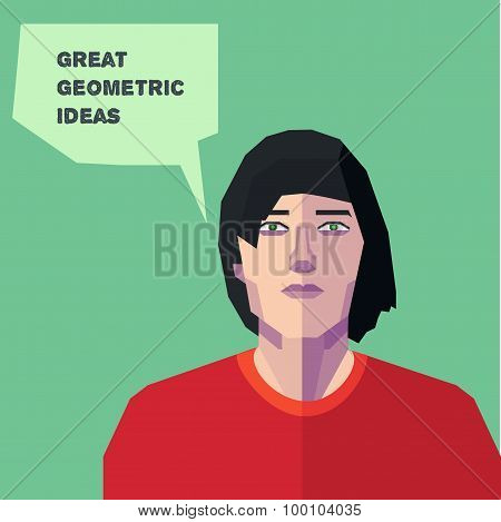 Vector Geometric Man, Thinking Creative Personality