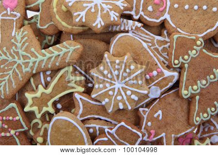 Christmas Ginger Bread As Holiday Background
