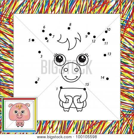 Funny Pink Pig