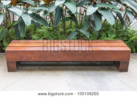 Long Wooden Bench