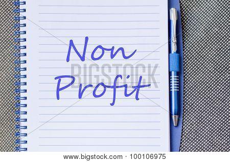 Non Profit Text Concept