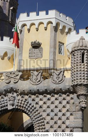 Entrance Gate Of Pena National Palace In Sintra