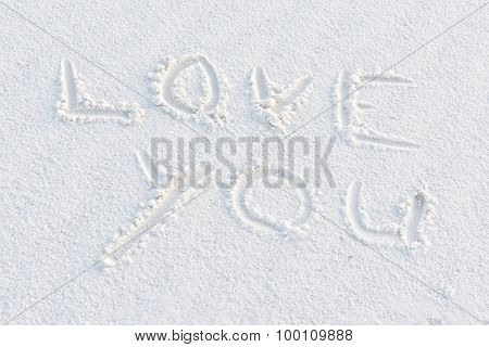 Love You Written In The White Sand