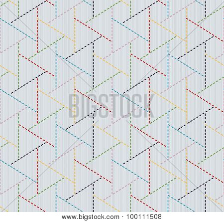 Abstract japanese needlework. Sashiko. Seamless texture.