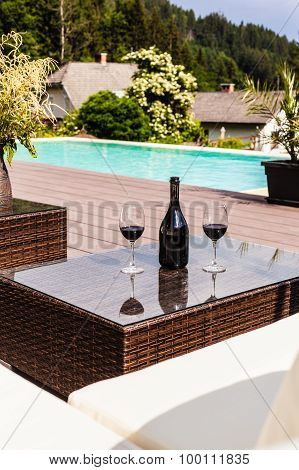 Wine On The Pool