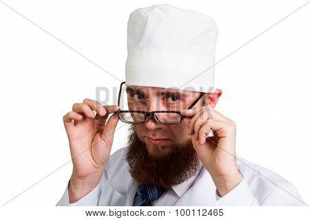 Bearded Doctor In Glasses