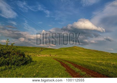 Spring Landscape With Russian