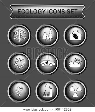 Ecology Logo Vector Icon Set.