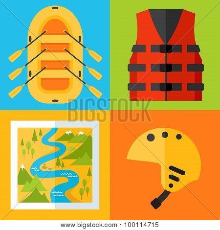 Rafting Icons