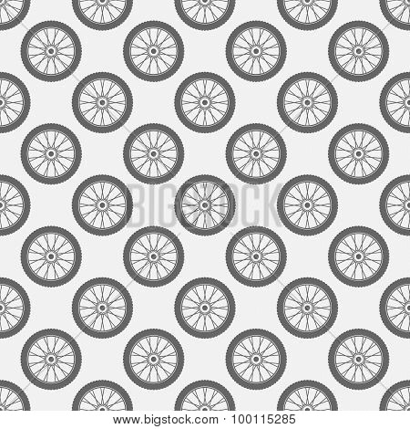 Wheels seamless pattern