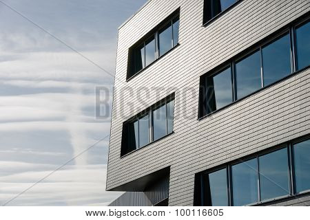 Architectural Lines Of An Industrial Building