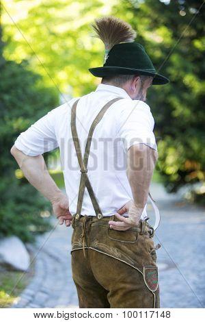 Backside Of A Bavarian Man