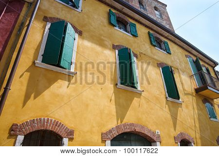 Mediterranean House With Shutters