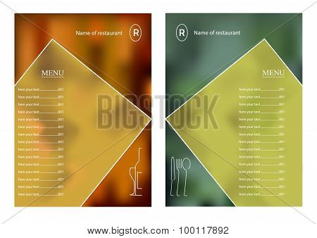 Template Of Design Of The Menu For Restaurant.