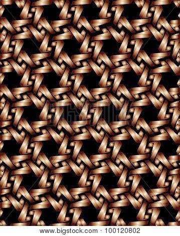 Bronze Gear Elements On Black Background