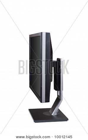 Monitor Computer Isolated White Background Clipping Path.